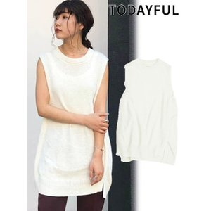 代引き不可  TODAYFUL  トゥデイフル Cottonlinen Knit Vest  19秋冬予約 11920511|hearty-select