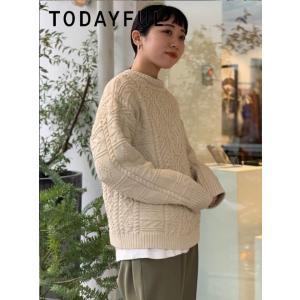 TODAYFUL  トゥデイフル Vintage Aran Knit  19秋冬.予約 11920525 ニットトップス ヴィンテージアランニット アラン セーター|hearty-select