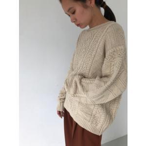 TODAYFUL  トゥデイフル Vintage Aran Knit  19秋冬.予約 11920525 ニットトップス ヴィンテージアランニット アラン セーター|hearty-select|07