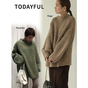 TODAYFUL  トゥデイフル Oversize Braid Knit  19秋冬.予約 11920532 ニットトップス オーバーサイズブレイドニット セーター|hearty-select