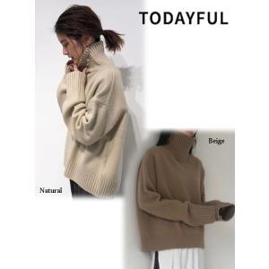 TODAYFUL  トゥデイフル Superfine Wool Knit  19秋冬.予約 11920533 ニットトップス スーパーファインウールニット シンプル ハイネック|hearty-select