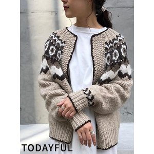 TODAYFUL  トゥデイフル Nordic Knit Cardigan  19秋冬.予約 11920536|hearty-select