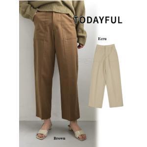 代引き不可  TODAYFUL  トゥデイフル Centerpress Baker Pants  19秋冬予約 11920703|hearty-select