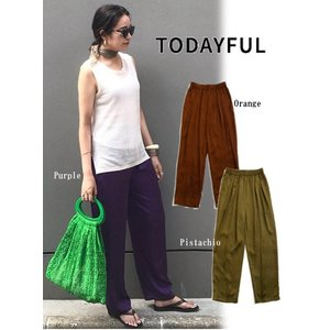 TODAYFUL トゥデイフル Silkete Rough Pants  19秋冬予約 11920714|hearty-select