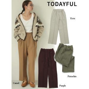 TODAYFUL  トゥデイフル Stretch Trousers  19秋冬.予約 11920716 パンツ ストレッチトラウザーズ パンツ 美脚|hearty-select