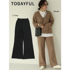 TODAYFUL  トゥデイフル Soft Raccoon Pants  19秋冬.予約 11920722 パンツ ソフトラクーンパンツ ラクーン ニットパンツ|hearty-select