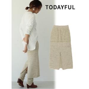 代引き不可  TODAYFUL  トゥデイフル Backslit Knit Skirt  19秋冬予約 11920802|hearty-select