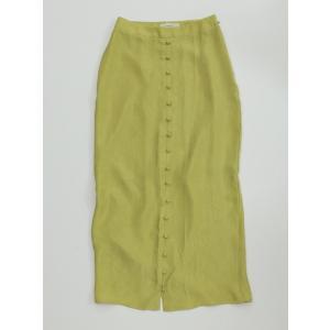 TODAYFUL  トゥデイフル Frontbutton Satin Skirt  19秋冬.予約 11920813 タイトスカート フロントボタンサテンスカート サテン シンプル|hearty-select|02