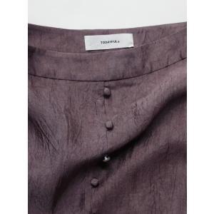 TODAYFUL  トゥデイフル Frontbutton Satin Skirt  19秋冬.予約 11920813 タイトスカート フロントボタンサテンスカート サテン シンプル|hearty-select|06