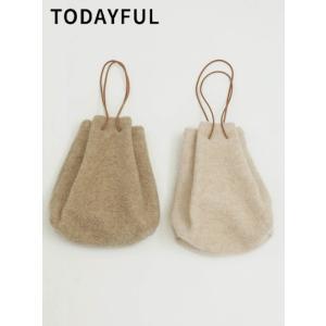 代引き不可  TODAYFUL  トゥデイフル Wool Pile Purse  19秋冬予約 11921006|hearty-select