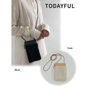 TODAYFUL  トゥデイフル Leather×Boa Pochette  19秋冬.予約 11921018 ハンド・ショルダーバッグ|hearty-select