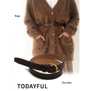 TODAYFUL  トゥデイフル Crocodile Leather Belt  19秋冬.予約 11921049|hearty-select