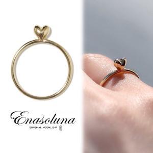 Enasoluna エナソルーナ Mellow heart ring K10 11961541 リング 指輪 K10 10金 プレゼント ギフト 母の日  イエローゴールド|hearty-select