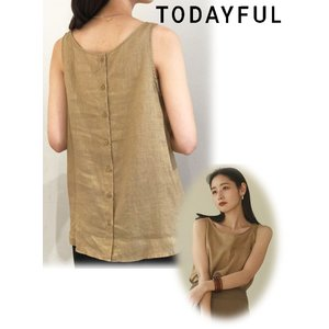 TODAYFUL  トゥデイフル Linen Botton Tanktop  20春夏. 12010...