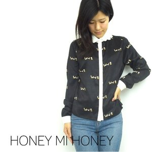SALE50%OFF Honey mi Honey (ハニーミーハニー)シガレットブラウス  15秋冬【15A-AB-03】15AW-S|hearty-select