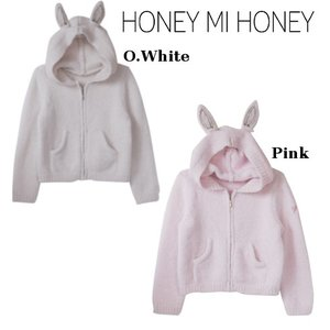 50%OFF Honey mi Honey  kidsラインキッズ ラビットポリエステルニットパーカー  15秋冬 15A-KAN-0115AW-S|hearty-select