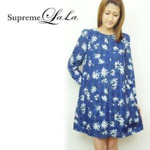SALE60%OFF Supreme.La.La(シュープリームララ)スケープチェックワンピース  16春夏【161-OP019】|hearty-select