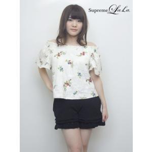 Supreme.La.La(シュープリームララ)コットンレースプリントブラウス  17春夏【171-BL002】|hearty-select
