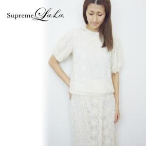 Supreme.La.La(シュープリームララ)レースヴィンテージトップス  17春夏【171-BL013】|hearty-select