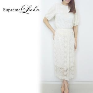 Supreme.La.La(シュープリームララ)レースヴィンテージスカート  17春夏【171-SK007】|hearty-select