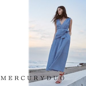 MERCURYDUOマーキュリーデュオ ギンガムリラックスワイドオールインワン  17春夏 1720303201 hearty-select