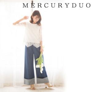 MERCURYDUOマーキュリーデュオ コードレースフレアブラウス  17春夏 1720400201 hearty-select