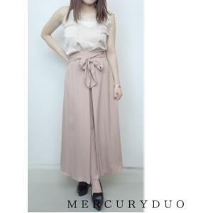 MERCURYDUOマーキュリーデュオ ハイウエストタックワイド パンツ  17春夏 1720700601 hearty-select