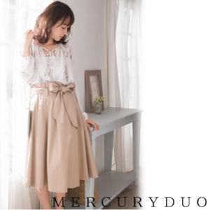MERCURYDUOマーキュリーデュオ ラップ風イレギュラーヘムスカート  17春夏 1720800901 hearty-select