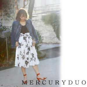 MERCURYDUOマーキュリーデュオ 単色Flowerイレギュラーヘムスカート  17春夏 1720801001 hearty-select