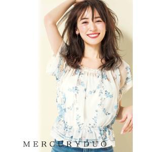 MERCURYDUOマーキュリーデュオ ウ゛ィンテージフラワーパネルプリントブラウス  17春夏. 1730400101 hearty-select