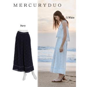MERCURYDUOマーキュリーデュオ ドット刺繍ワイド パンツ  17春夏. 1730700601 hearty-select