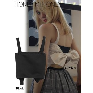 Honey mi Honey (ハニーミーハニー)satin backribbon camisole  17秋冬【17A-AB-02】|hearty-select