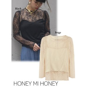 Honey mi Honey (ハニーミーハニー)lace×camisole tops  17秋冬【17A-AB-05】|hearty-select