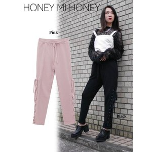 Honey mi Honey (ハニーミーハニー)laceup sweatpants  17秋冬予約【17A-AB-08】|hearty-select