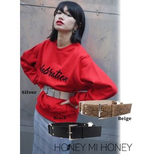 Honey mi Honey (ハニーミーハニー)ring belt  17秋冬.予約【17A-AC-05】|hearty-select