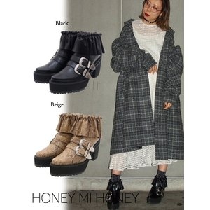 Honey mi Honey (ハニーミーハニー)frill western shortboots  17秋冬.予約【17A-AC-09】|hearty-select