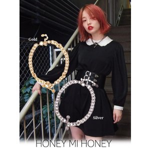 Honey mi Honey (ハニーミーハニー)chain choker  17秋冬【17A-HB-06】|hearty-select