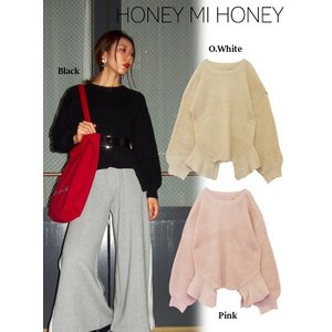 Honey mi Honey (ハニーミーハニー)cutout knit tops  17秋冬予約【17A-RO-03】|hearty-select
