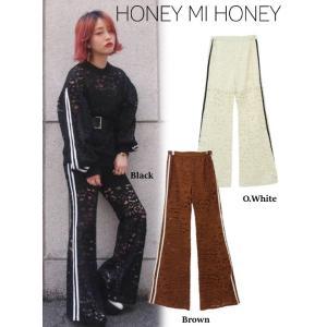 Honey mi Honey (ハニーミーハニー)line lace pants  17秋冬【17A-TA-05】|hearty-select