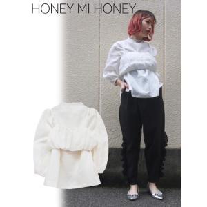 セール50%OFF  Honey mi Honey ハニーミーハニー linen blouse  18春夏 18S-TA-05|hearty-select
