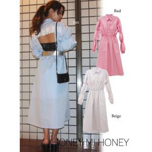 セール60%OFF  Honey mi Honey  ハニーミーハニー backopen stripe one-piece  18春夏. 18S-TA-17受注会|hearty-select