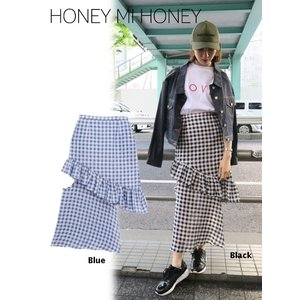セール50%OFF  Honey mi Honey  ハニーミーハニー design ginghamcheck skirt  18春夏. 18S-TA-41|hearty-select