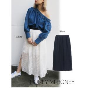 セール50%OFF  Honey mi Honey  ハニーミーハニー check pleats skirt  18春夏 18S-VG-20|hearty-select