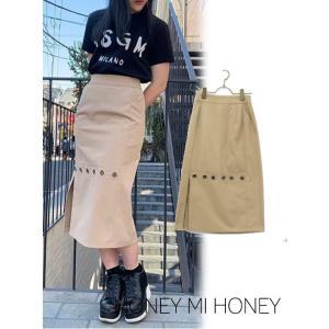 30%OFF Honey mi Honey ハニーミーハニー  button skirt  19春夏 19S-TA-23 タイトスカート  定価 16000円|hearty-select