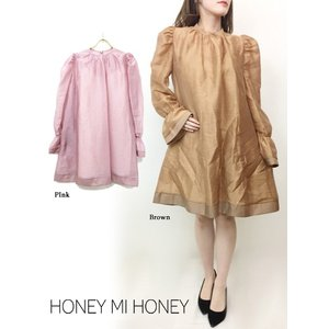 30%OFF Honey mi Honey ハニーミーハニー  organdie mini one-piece  19春夏 19S-TA-26 タイトワンピース  定価 22500円|hearty-select