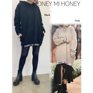 20%OFF! Honey mi Honey ハニーミーハニー  elastic logo hoodie  19春夏 19S-VG-03 スウェット・パーカー 定価 14000円|hearty-select
