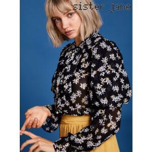 12%OFF! sister jane シスタージェーン  Floral Puff Sleeve Shirt  19春夏 19SJ01BL804BLK シャツ・ブラウス 定価 11800円|hearty-select