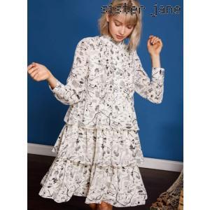 12%OFF! sister jane シスタージェーン  Vacation Print Tiered Dress  19春夏 19SJ01DR1025IVO フレアワンピース 定価 16800円|hearty-select
