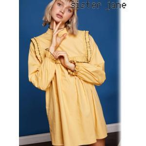 12%OFF! sister jane シスタージェーン  Gem Mini Smock Dress  19春夏 19SJ01DR1031YLW フレアワンピース 定価 13800円|hearty-select
