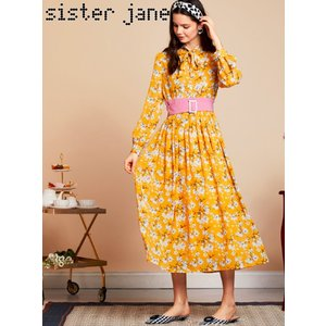12%OFF! sister jane シスタージェーン  Susan Midi Dress  19春夏. 19SJ02DR1054 マキシワンピース 定価 16800円|hearty-select